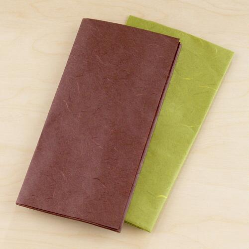 Brown & Green Mulberry Tissue, Set of 2