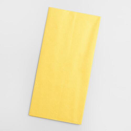 Yellow Mulberry Tissue, Set of 2