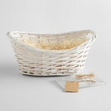 White Gift Basket Kit