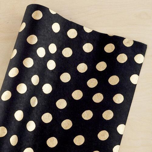 Spanish Black & Gold Handmade Gift Wrap