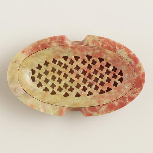 Soapstone Soap Dish with Lid