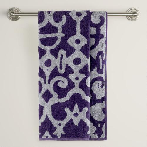 Purple/Grey Nomad Bath Towel