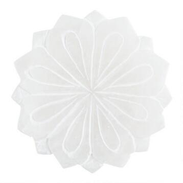 Alabaster Lotus Soap Dish