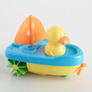 Wind-Up Sailboat Ducky Bath Toy