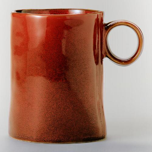 Persimmon Reactive Glaze Mugs, Set of 2