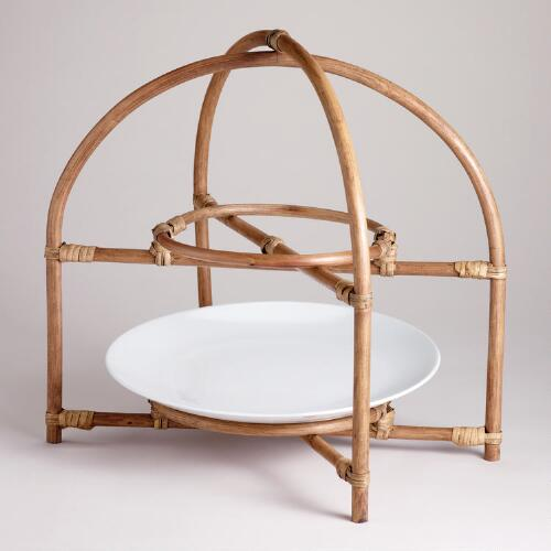 Rattan Plate Stand