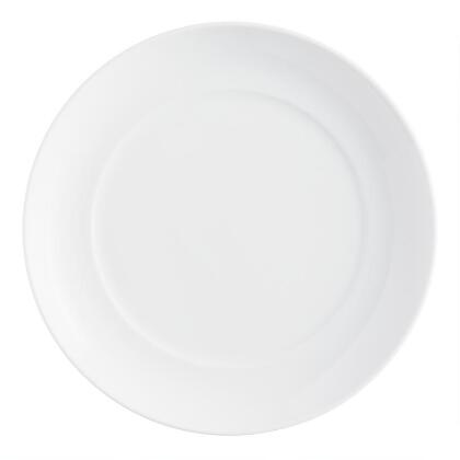 White Spin Salad Plates, set of 4