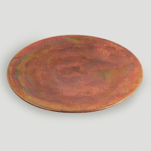 Hammered Verdigris Serving Tray