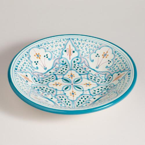 Teal Soukra Serving Bowl