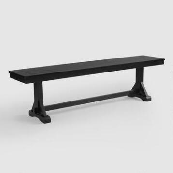 Antique Black Verona Bench