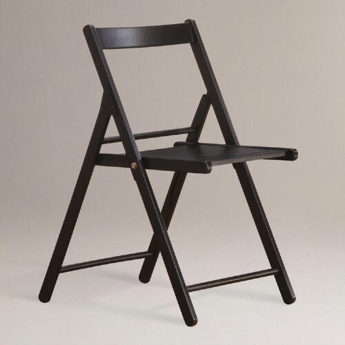 Espresso Folding Chairs, Set of 4