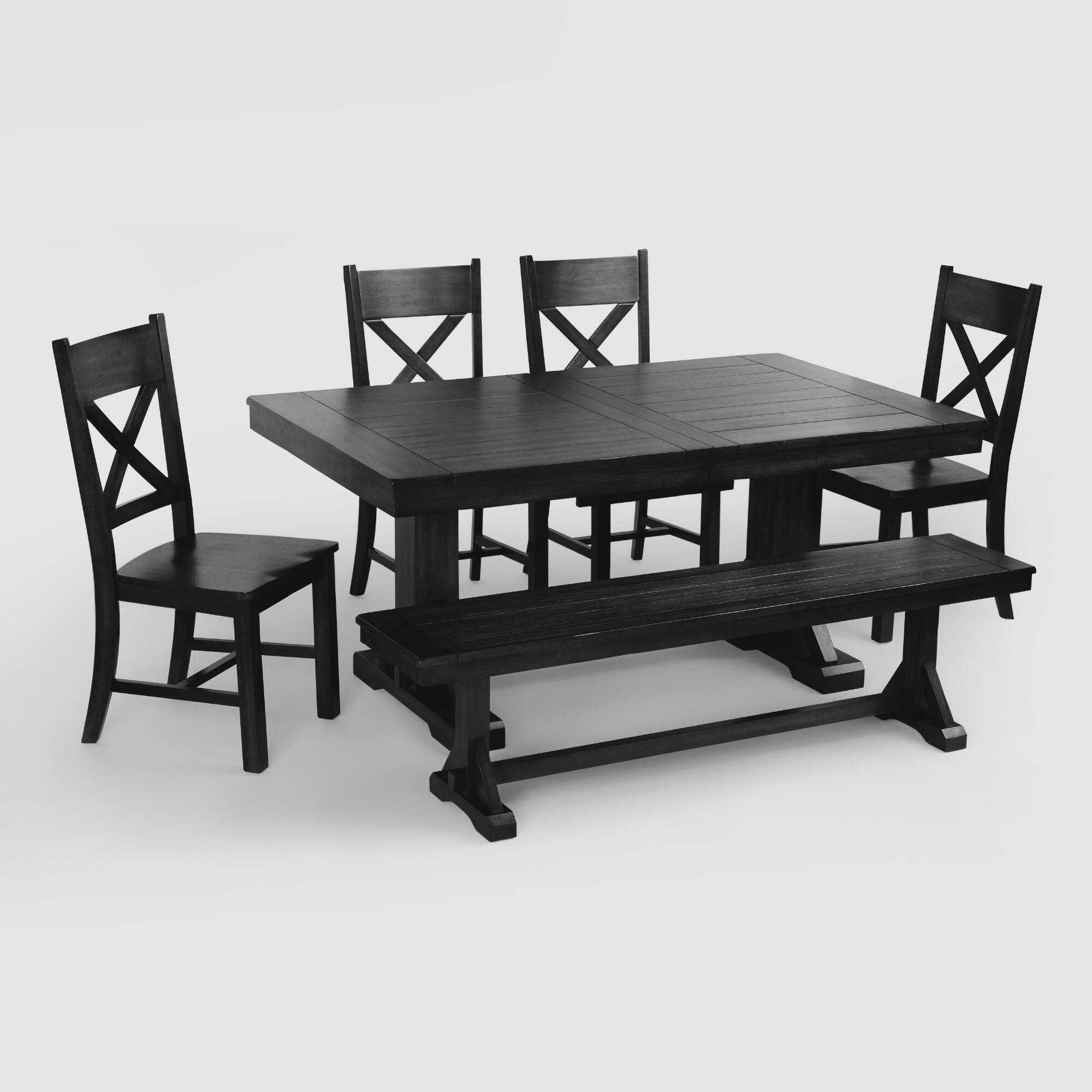 World Market Dining Room Tables: Antique Black Verona Dining Collection