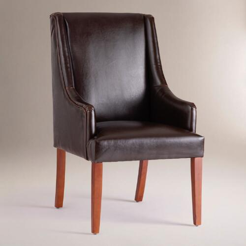 Espresso Bonded Leather Hayden Dining Chair