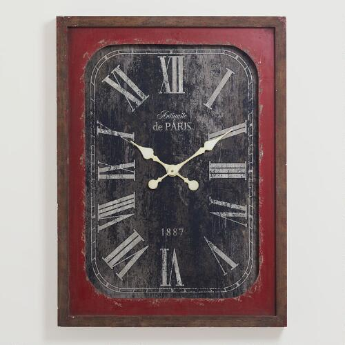 Red Victoria Vintage Wall Clock