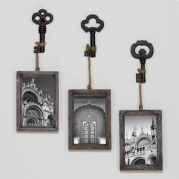 Sophie Vintage Key Frame, Set of 3