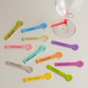 Wine Lines Reusable Glass Markers