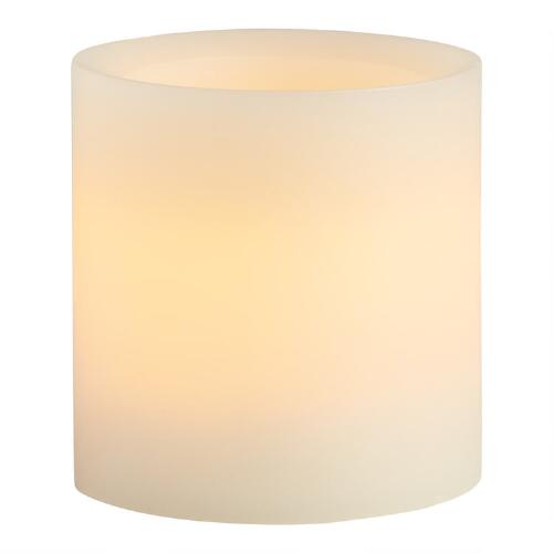 "3"" x 3"" Ivory Flameless LED Pillar Candle"