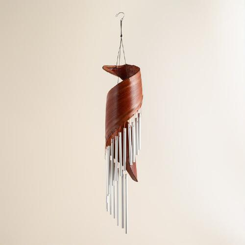 Coconut and Metal Tubes Wind Chimes