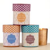 Tradewinds Hammered Copper Box Candles