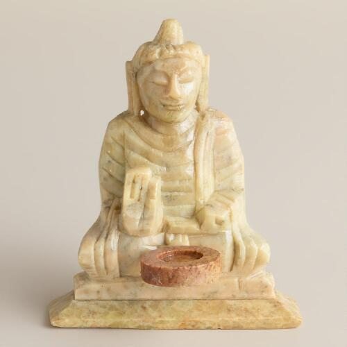Soapstone Buddha Incense Holder
