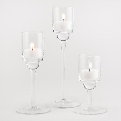 Stemmed Glass Tealight Holders