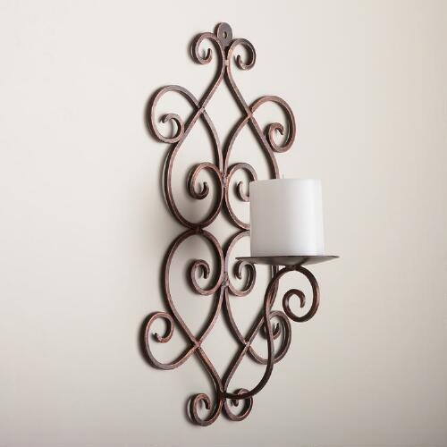 "16"" Scroll Wall Sconce"