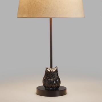 Owl Metal Accent Lamp Base