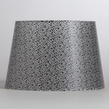 Black & Clear Flower Print Accent Lamp Shade