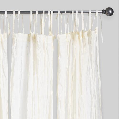 Natural Crinkle Voile Cotton Curtain