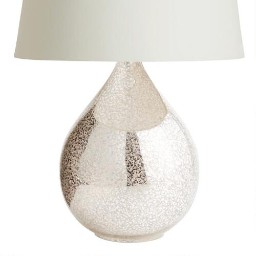 Martina Aged Mirror Table Lamp Base