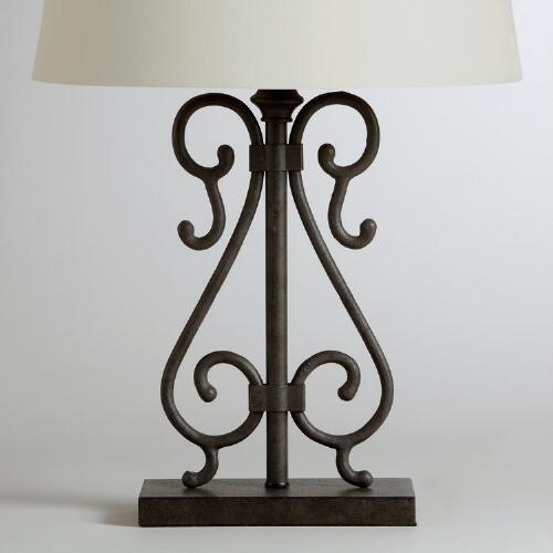 Maria Ironwork Table Lamp Base