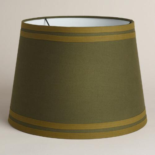 Hunter Green Double Ribbon Table Lamp Shade