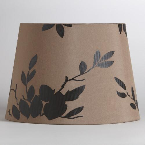 Faux Silk with Flowers Table Lamp Shade
