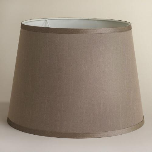 Champagne Faux Silk Table Lamp Shade