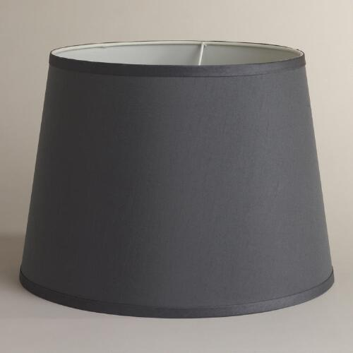 Frosted Gray Faux Silk Table Lamp Shade