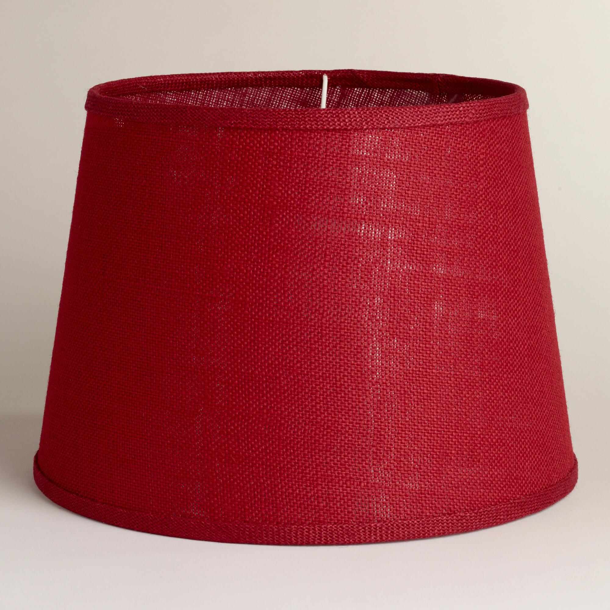 rollover to zoom click to view larger red burlap table lamp shade. Black Bedroom Furniture Sets. Home Design Ideas