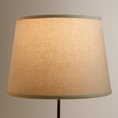 Off-White Cotton-Linen Table Lamp Shade