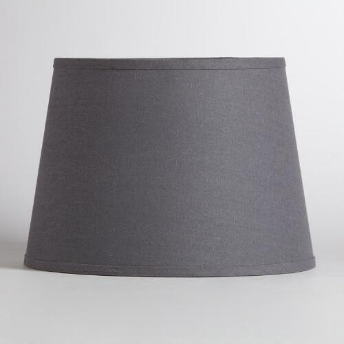 Gray Cotton-Linen Table Lamp Shade
