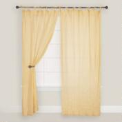 Yellow Crinkle Voile Cotton Curtain