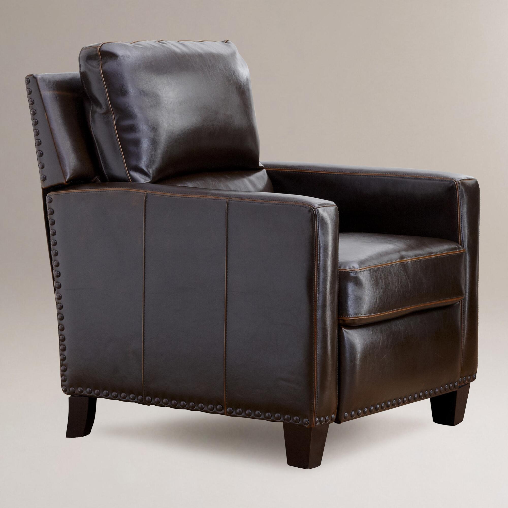 World Market Red Leather Chair: Leather Recliners @BBT.com