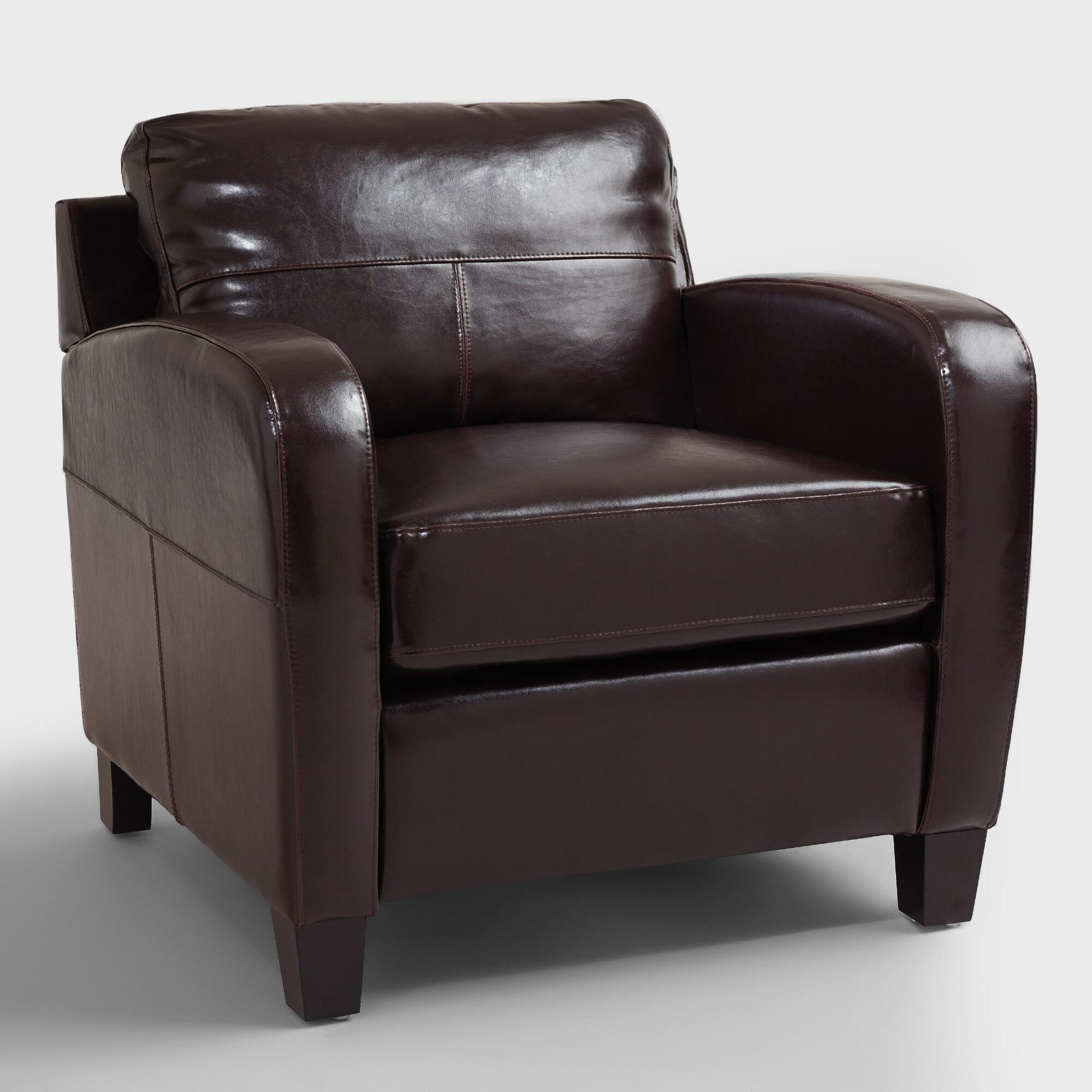 Espresso Mason Bi Cast Leather Chair World Market
