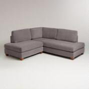 Charcoal Wyatt Sectional Sofa