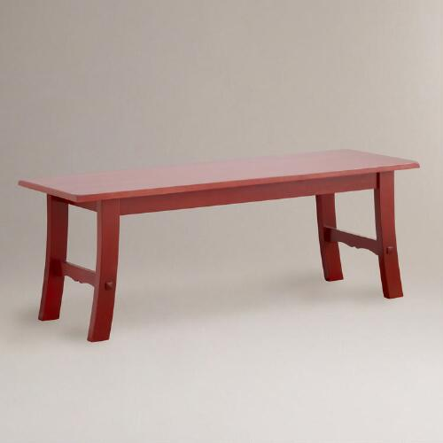 Red Asian Bench