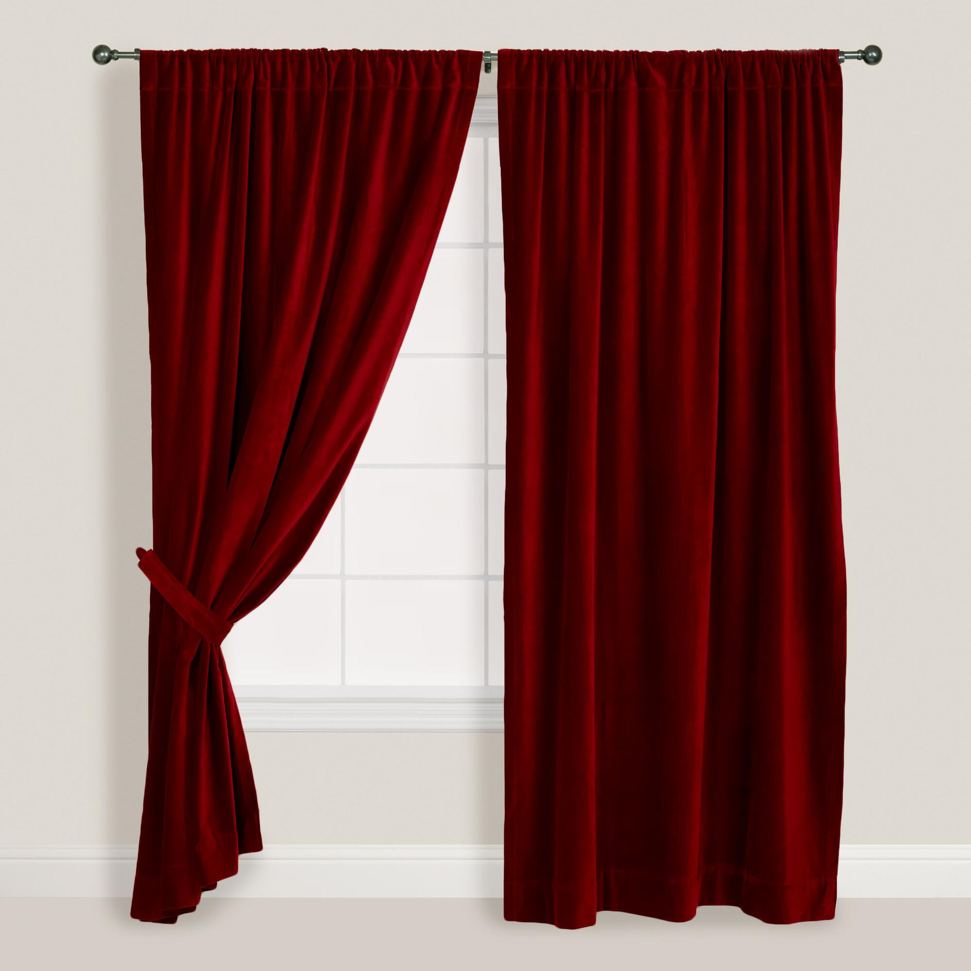 curtain red velvet ma Curtains Red Velvet with Gold... by biotom
