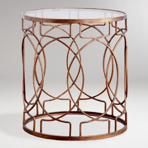 Metal Vance Accent Table