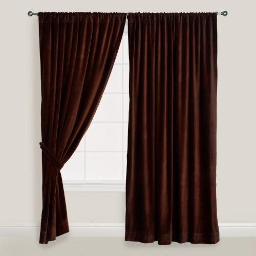 Chocolate Brown Velvet Curtain