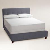 Dove Gray Draper Upholstered Bed