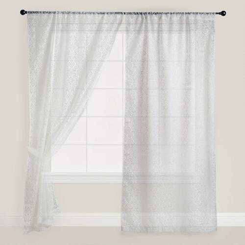 Ivory Burnout Jacquard Curtain