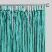 Blue Crinkle Voile Cotton Curtains, Set of 2