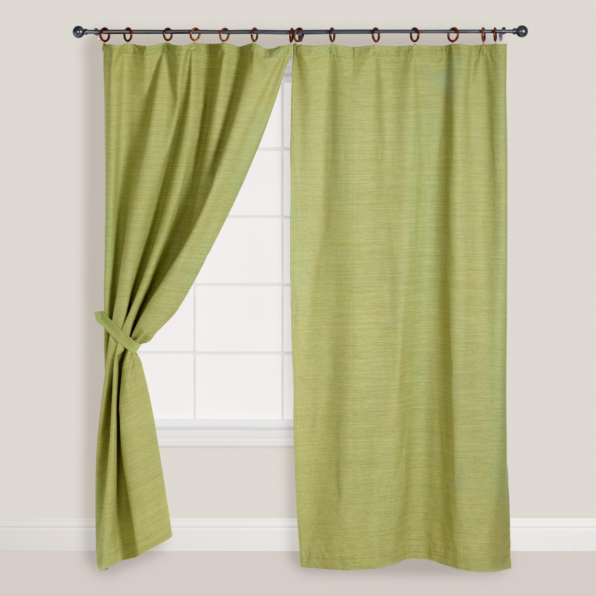 Green jaya canvas curtains set of 2 world market - Images of curtains ...